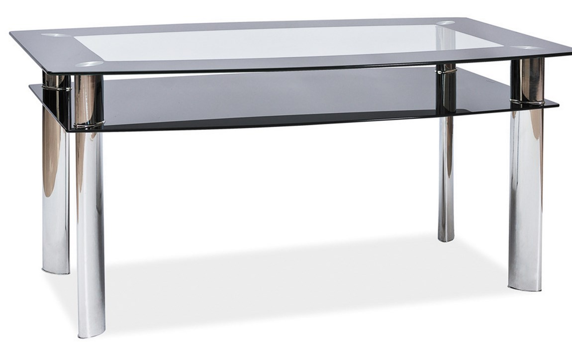 Smartshop Jídelní stůl POLARIS A, kov/sklo