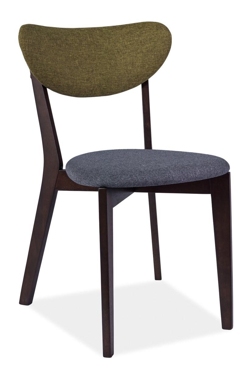 Smartshop Jídelní čalouněná židle ANDRE šedá/zelená