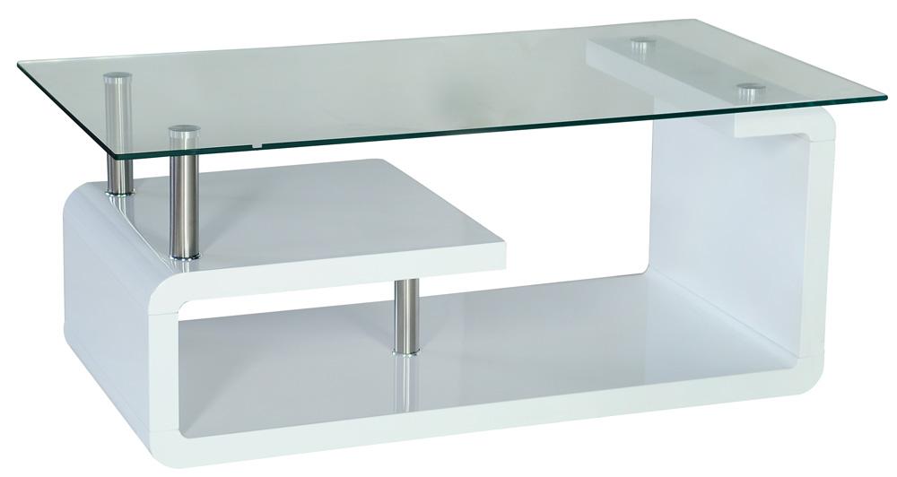 Smartshop Konferenční stolek LUMIA, sklo/bílá