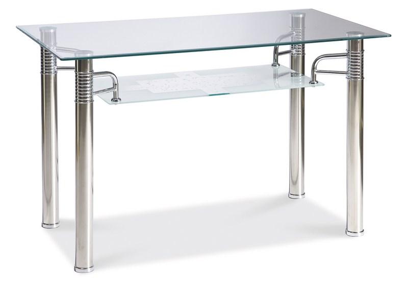 Smartshop Jídelní stůl RENI A 70x100, kov/sklo