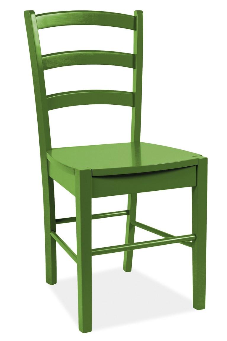 Smartshop Jídelní dřevěná židle CD-38, zelená