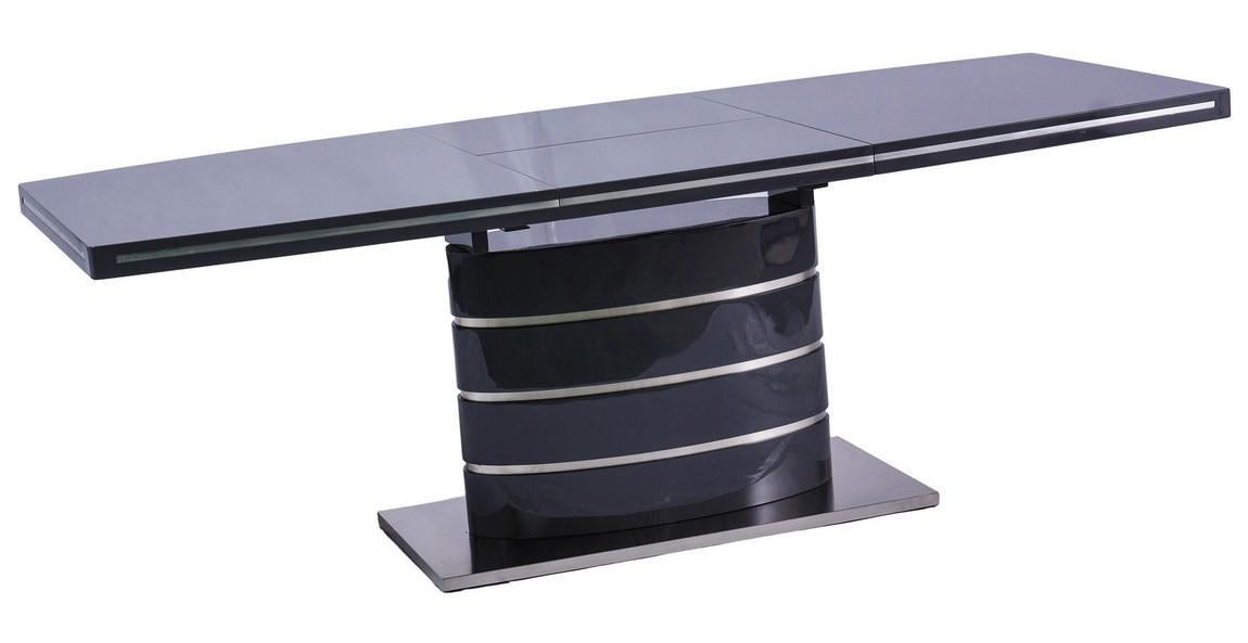 Smartshop Jídelní stůl FANO černý rozkládací