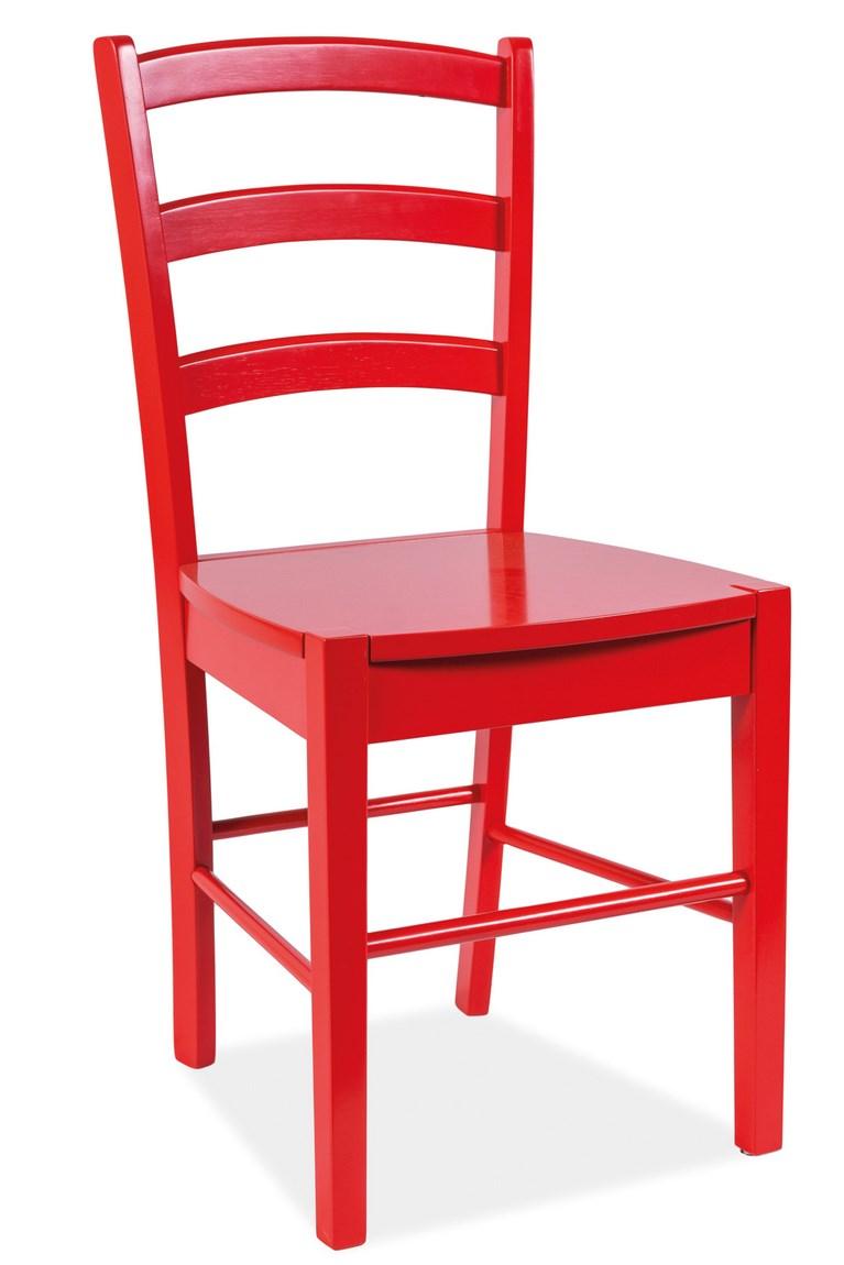 Smartshop Jídelní dřevěná židle CD-38, červená