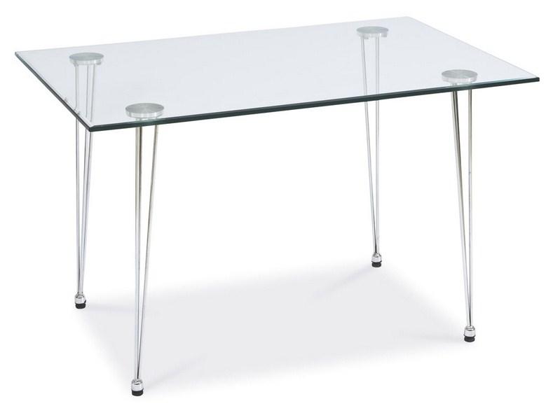 Smartshop Jídelní stůl VETRO III, kov/sklo