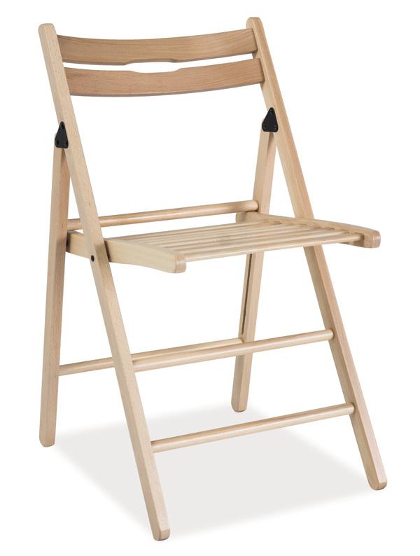 Smartshop Dřevěná skládací židle SMART natural