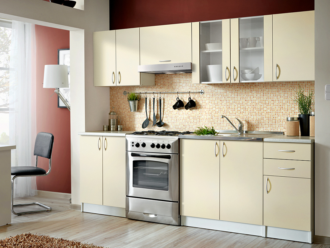Smartshop Kuchyně JOLANA II 180/240 cm, vanilka