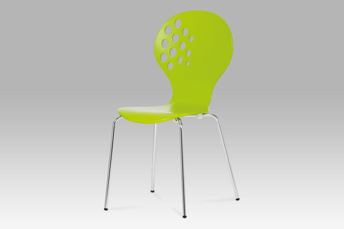 Autronic Jídelní židle C-500 GRN, zelená / chrom