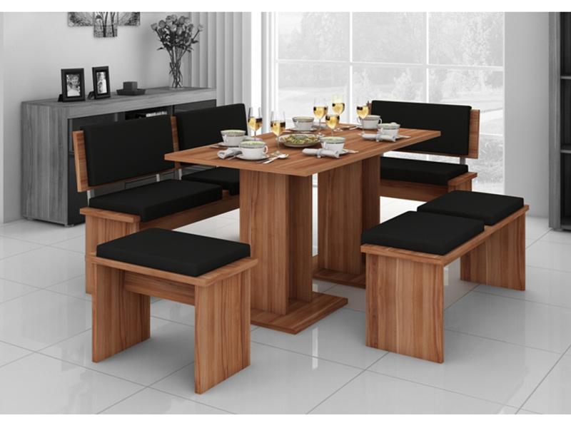 MORAVIA FLAT BOND, jídelní set velký, švestka/barva ekokůže:černá