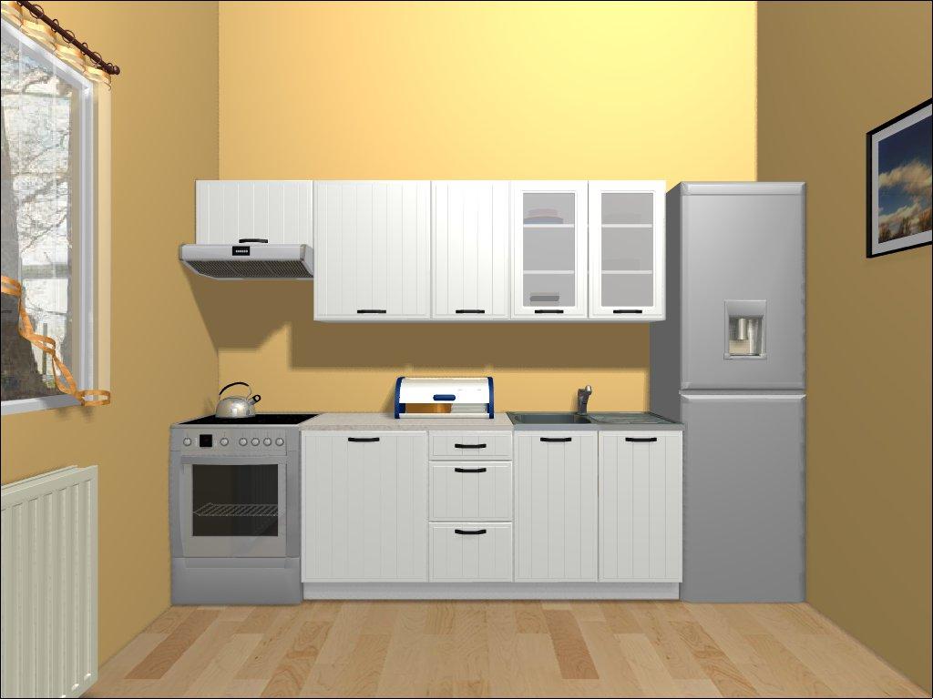 Smartshop Kuchyně DOMIN 180/240 cm, bílá canadian