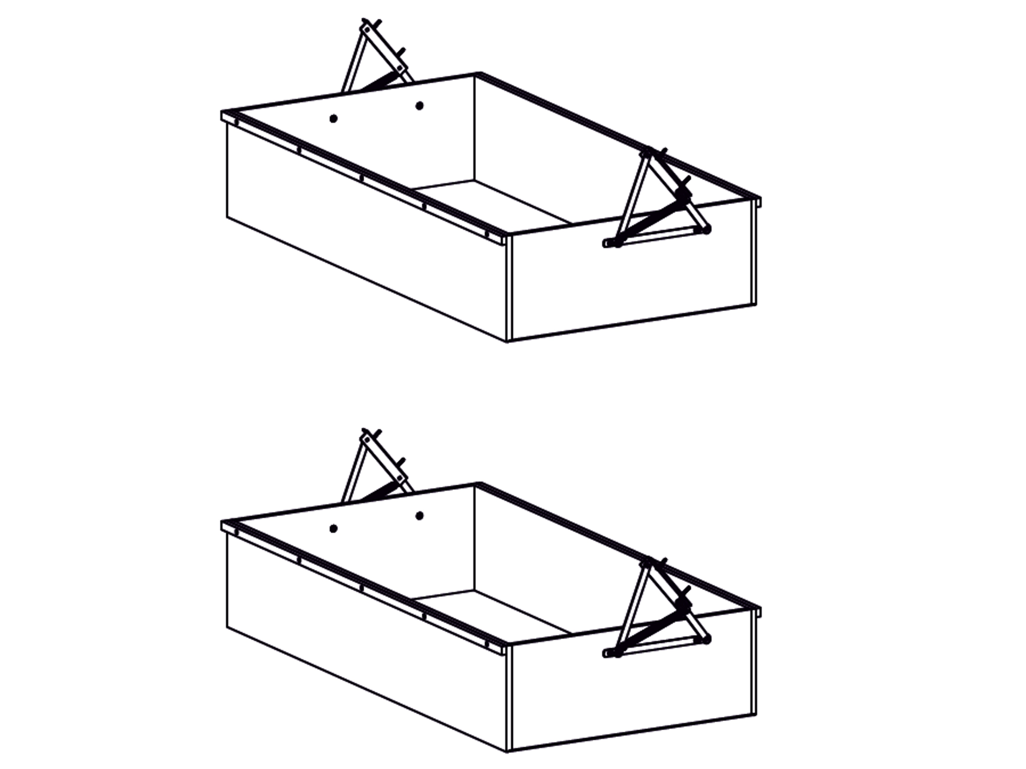 Decodom AURELIE úložné prostory pod postel typ 90 COMFORT, pino aurelio