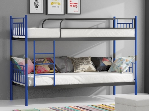ORFA MIX MARAT patrová postel, modrá/šedá