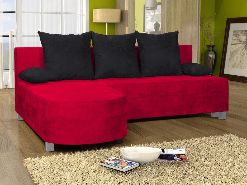 Smartshop Rohová sedačka WENECJA 9, červená látka