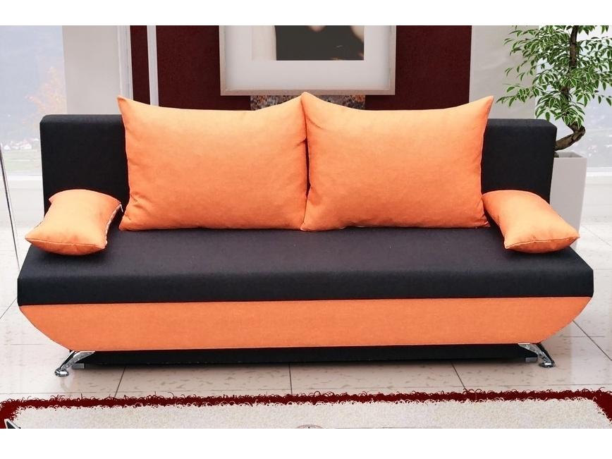Smartshop Pohovka OREGON 2, černá látka/oranžová látka