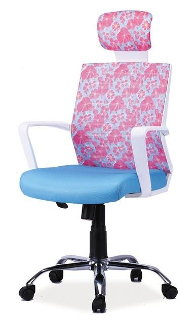 Smartshop Kancelářské křeslo MAJA, modrá/růžová