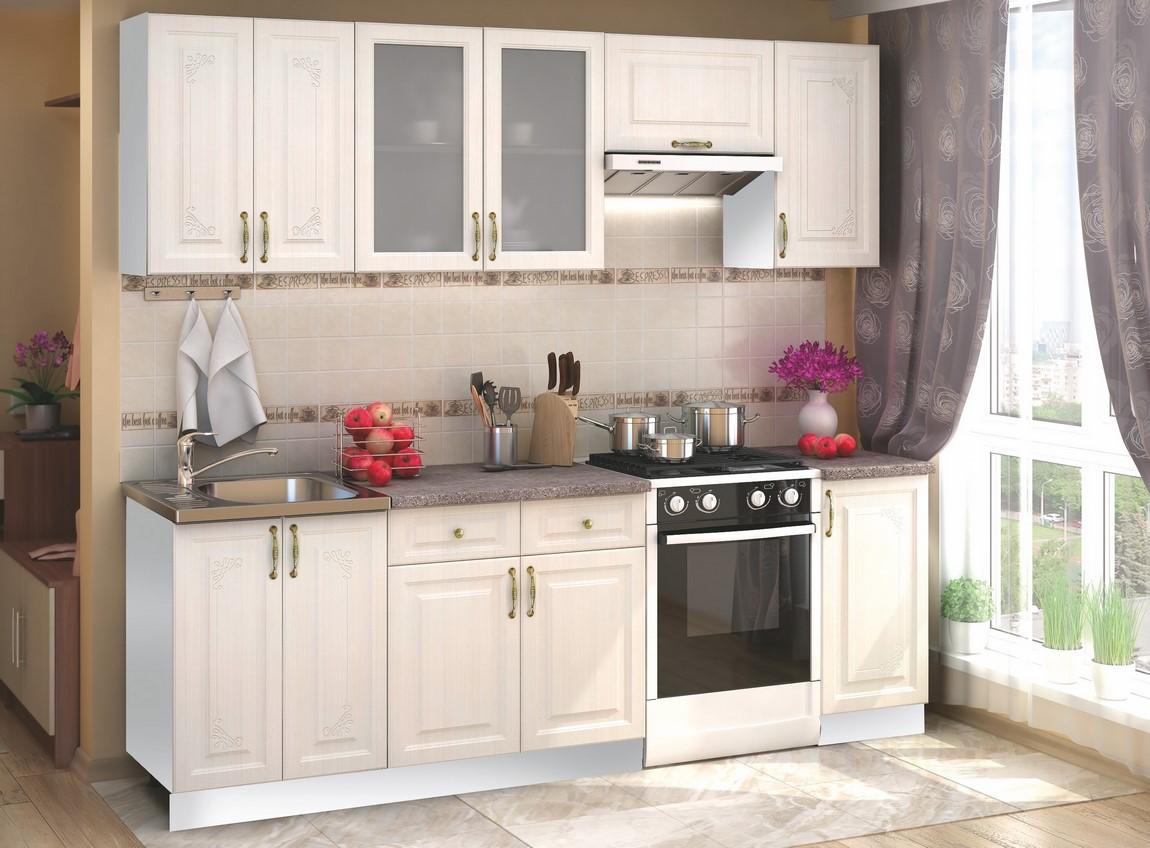 Smartshop Kuchyně VICTORIE 180/240, bílý santál