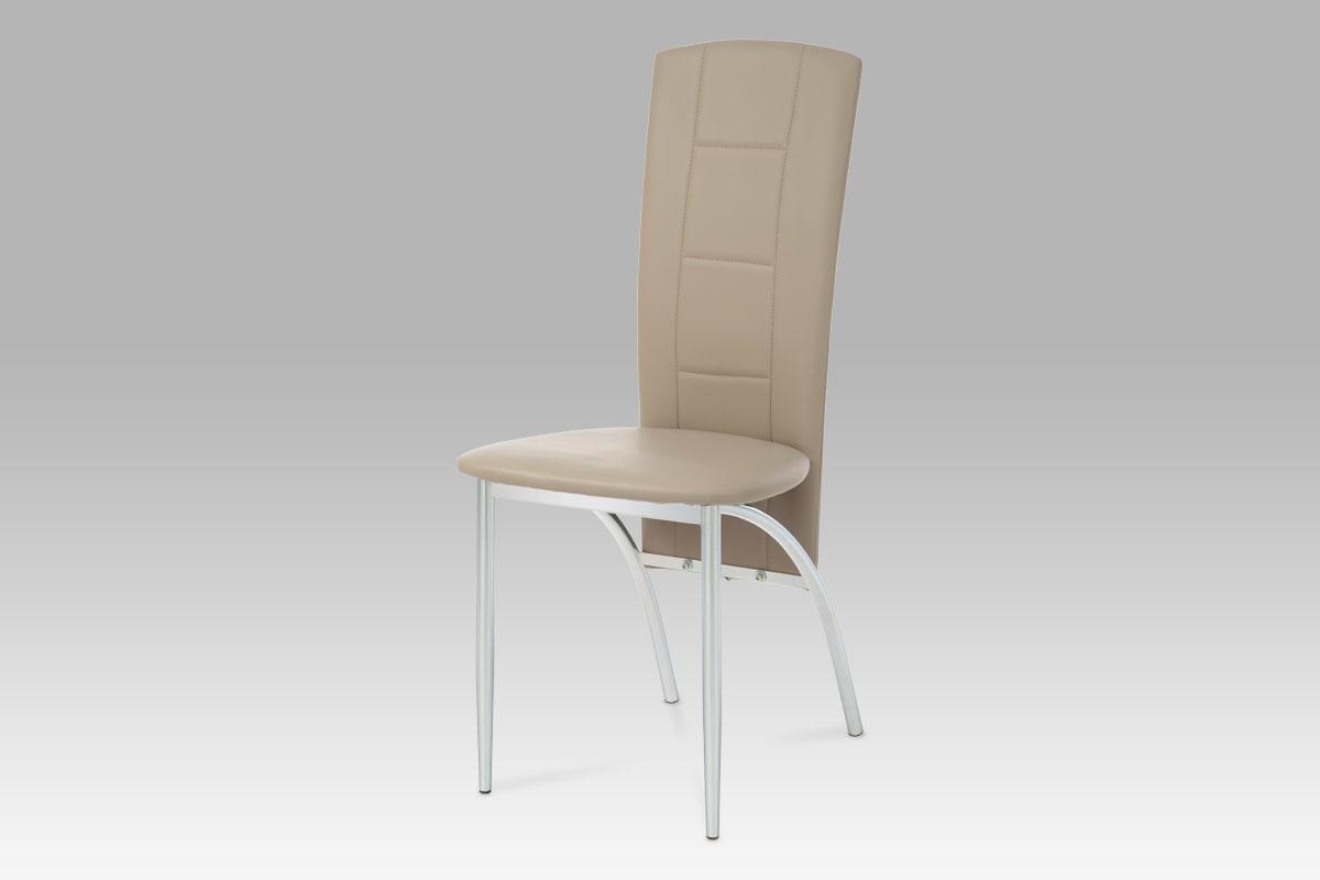 Autronic Jídelní židle, chrom/koženka cappuccino AC-1019 CAP