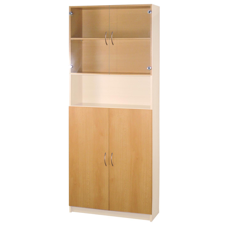 Skleněné a dřevěné dveře 30, buk