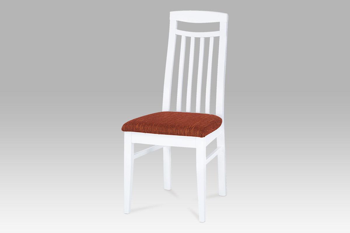 Smartshop Dřevěná židle bílá, BE810 WT- BEZ SEDÁKU