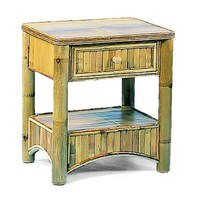Autronic Ratan BA02-1 Bambusový noční stolek