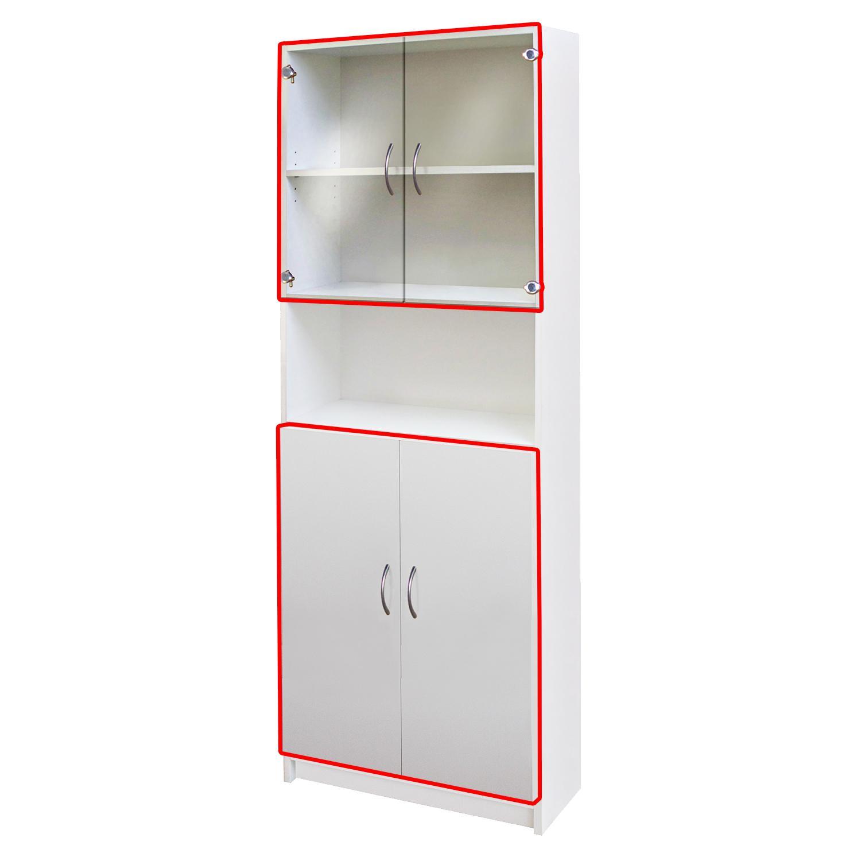 Idea Skleněné a dřevěné dveře 30, bílá