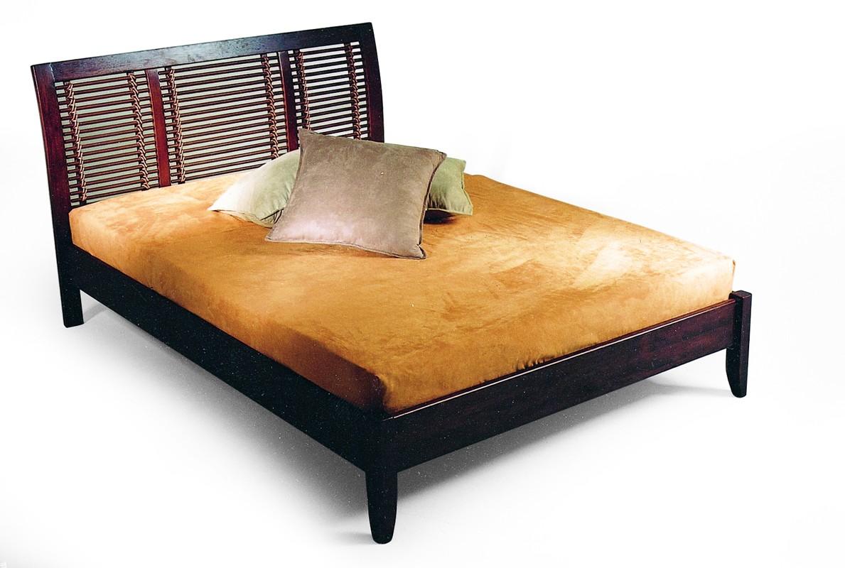 Autronic REDANG postel PO260 BR, kauč.masiv/ratan hnědá