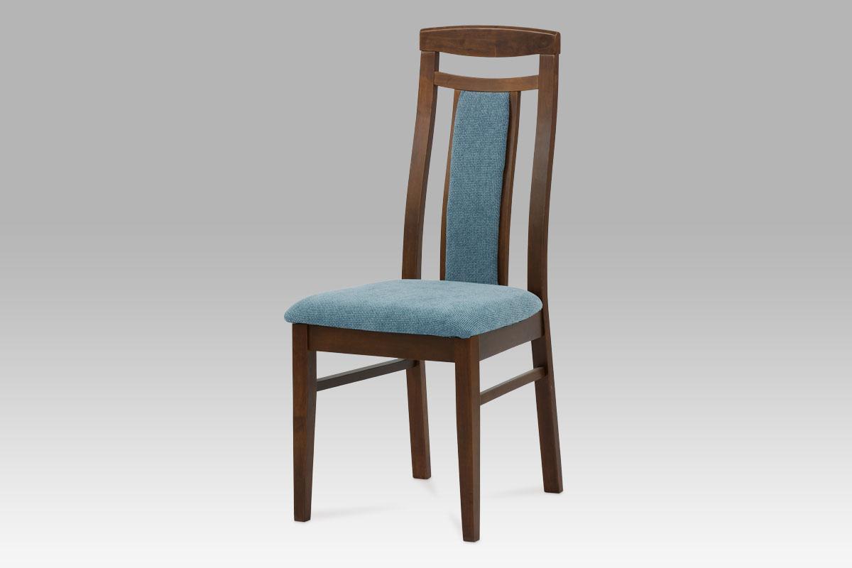 Autronic Dřevěná židle barva ořech BE820 WAL - BEZ SEDÁKU