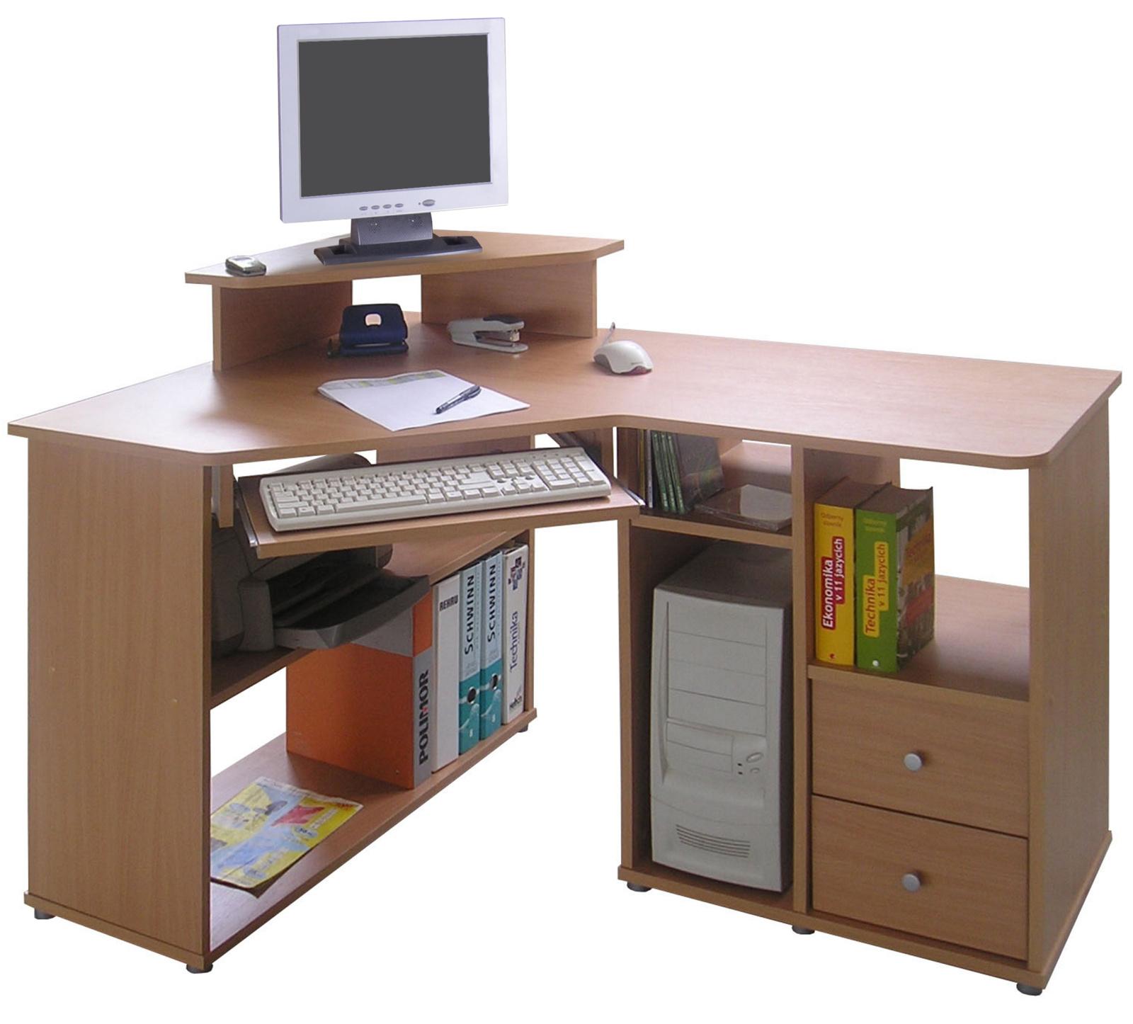 MB Domus Rohový PC stůl THEODOR, buk
