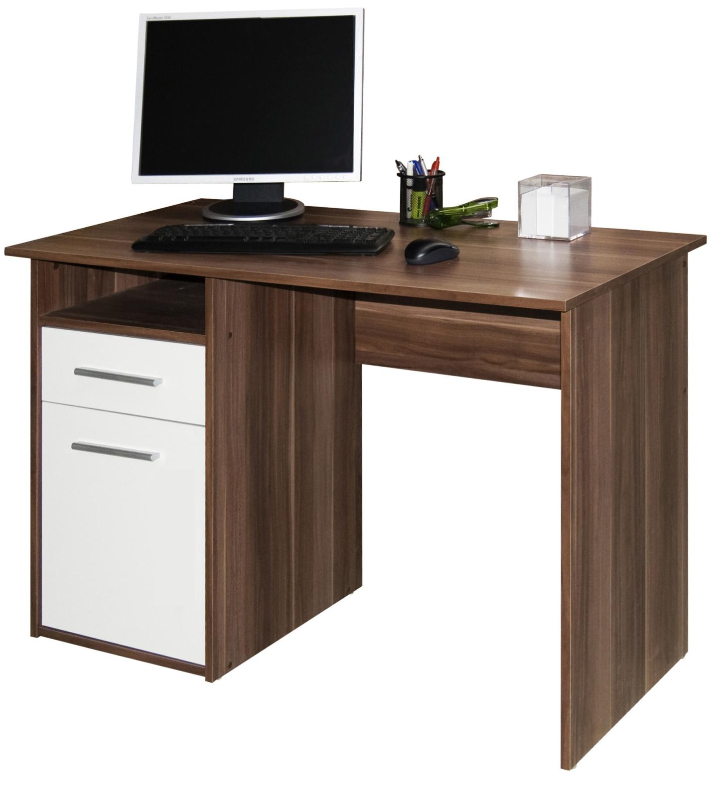 Kasvo MIRO PC stůl švestka / bílá