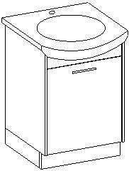 Extom NANCY, skříňka pod umyvadlo, bílá/černý lesk