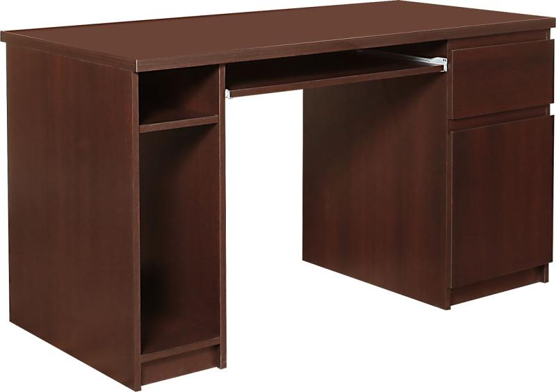 Extom PC stůl se skříňkou PELLO 80, borovice laredo tmavá