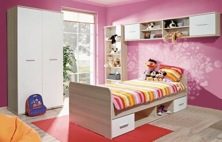 Dětský pokoj DINO I, žlutý javor/bílá