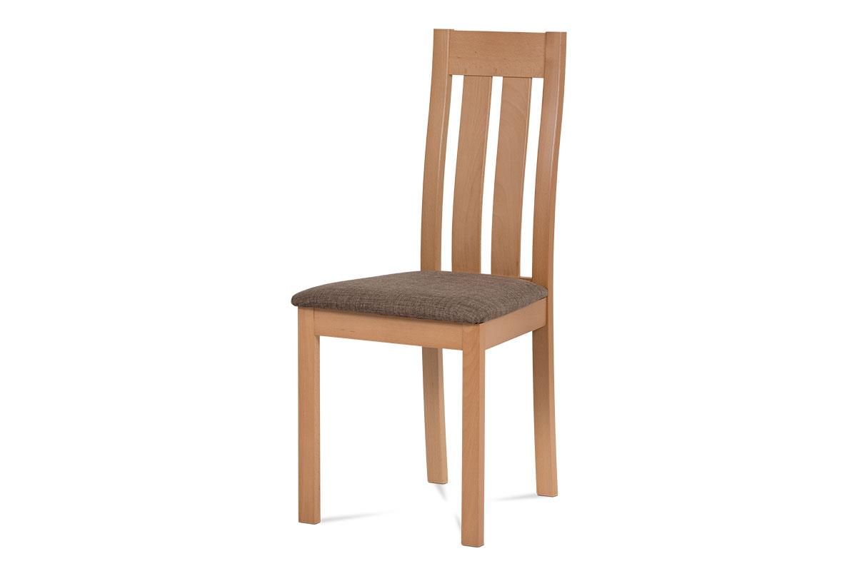 Levně Dřevěná židle BC-2602 BUK3, buk/potah hnědý