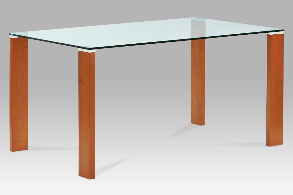 Smartshop Jídelní stůl BT-6750 TR2, třešeň/sklo