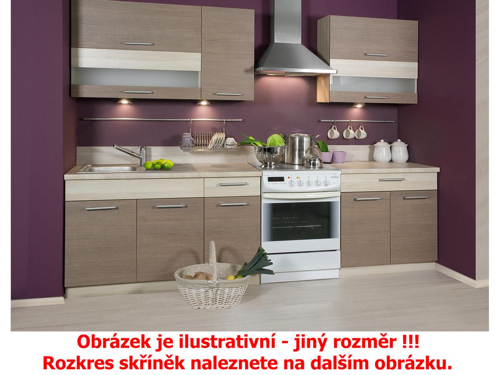 Extom Kuchyně KAMMDUO 210-Z8, modřín/hruška