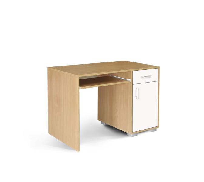 MATIS Dětský PC stůl BAMBI 1F1V, buk/bílá