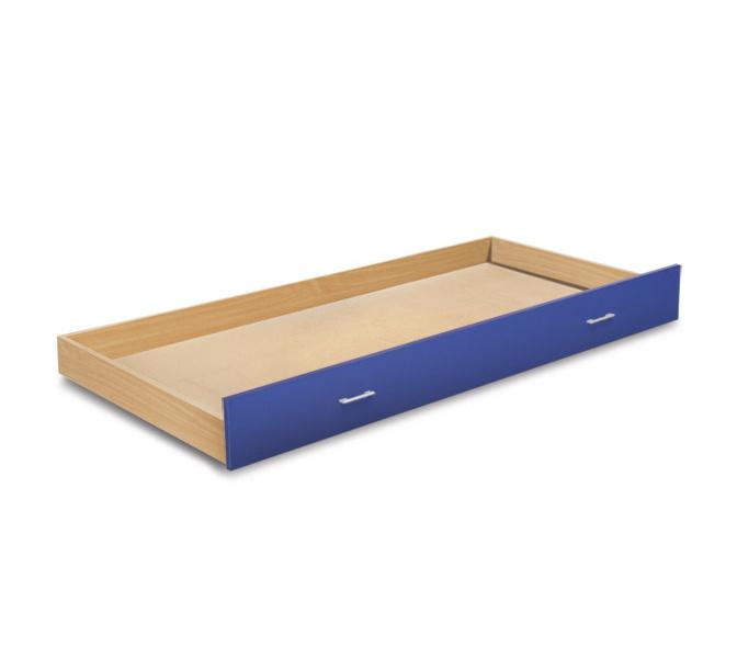 MATIS BAMBI, zásuvka pod postel, buk/modrá