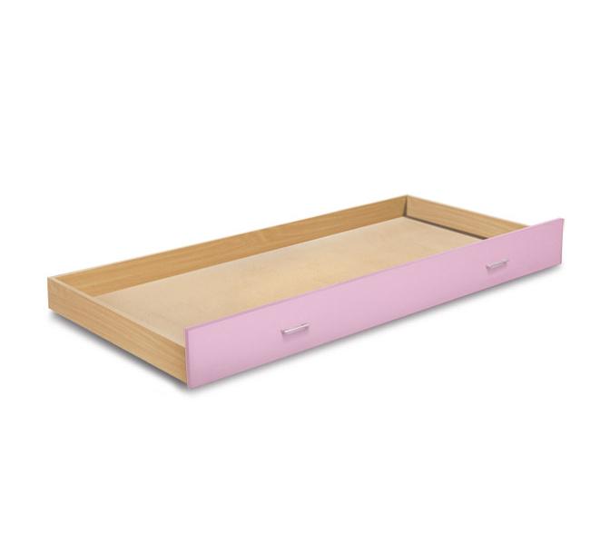 MATIS BAMBI, zásuvka pod postel, buk/růžová