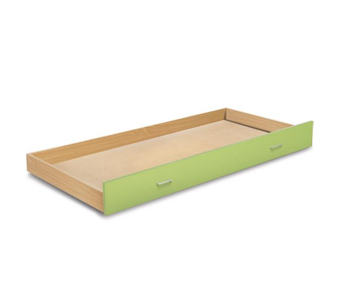 MATIS BAMBI, zásuvka pod postel, buk/zelená