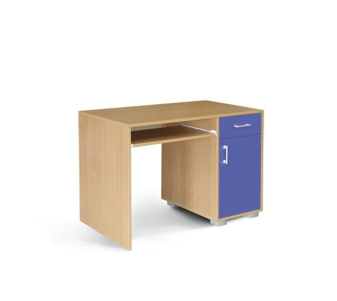 MATIS Dětský PC stůl BAMBI 1F1V, buk/modrá