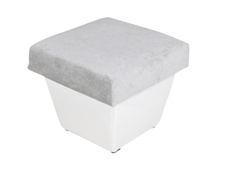 Smartshop Taburet TOLEDO, látka šedá/bílá ekokůže
