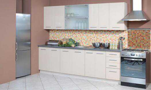 Extom Kuchyně PLATINUM 200/260, korpus jersey, dvířka vanilla