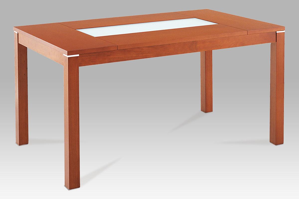 Jídelní stůl BT-6770 TR2, třešeň/sklo