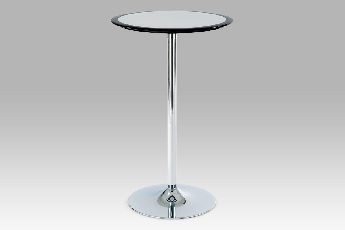 Autronic Barový stůl AUB-6050 BK, černo-stříbrný