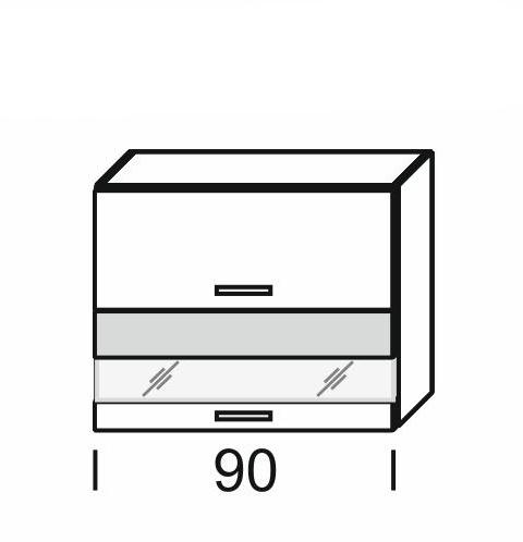 Extom KAMDUO, horní skříňka DUO WO2W_9/72,zebrano/hruška
