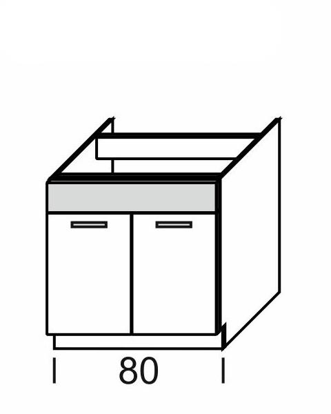 Extom KAMDUO, dolní skříňka DUO DZ8, modřín/hruška