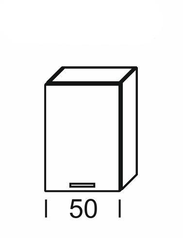 Extom KAMDUO, horní skříňka DUO W5, tráva/ořech