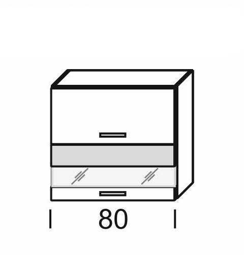 Extom KAMDUO, horní skříňka DUO WO2W_8/72, modřín/hruška