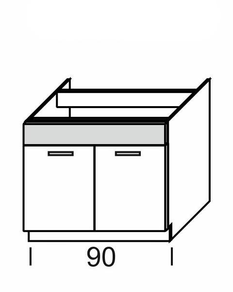 Extom KAMDUO, dolní skříňka DUO DZ9, modřín/hruška