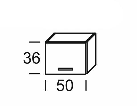 KAMDUO, digest. skříňka DUO WO5/36, zebrano/hruška