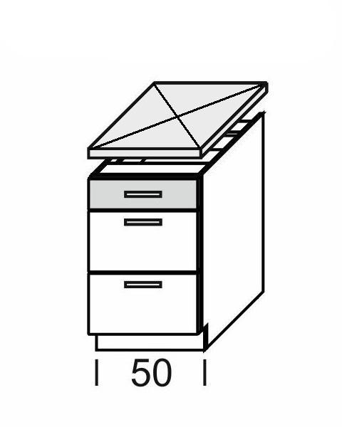 Extom KAMDUO, dolní skříňka DUO DS5/3, tráva/ořech